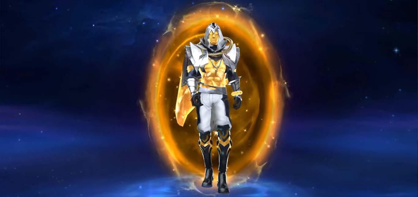 Tulen Tân thần hoàng kim trang phục với hiệu ứng và âm thanh choáng ngợp