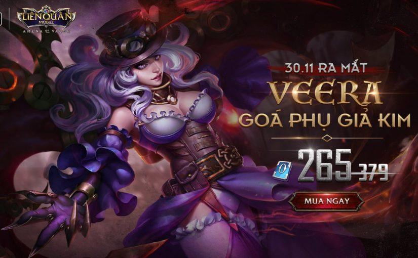 Trang phục Veera Goá Phụ Giả Kim, một skin mạnh mẽ gai góc