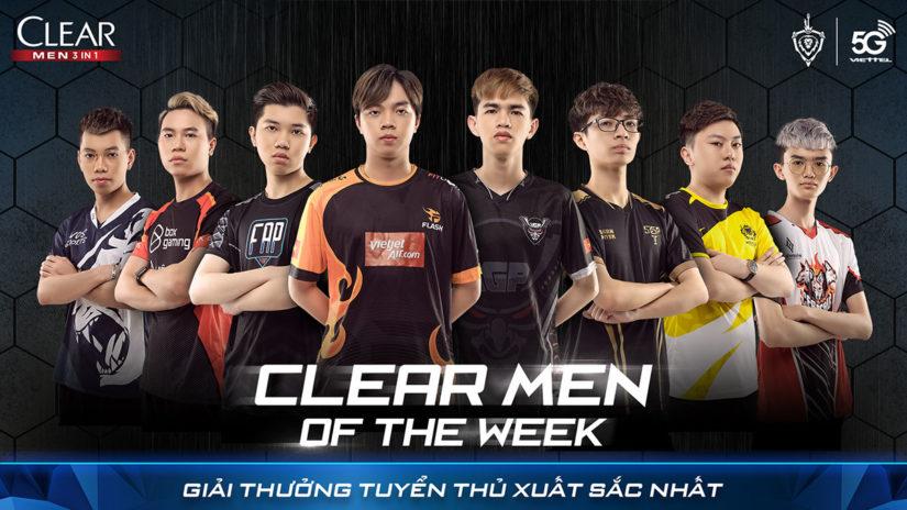 """Giải thưởng tuần """"CLEAR Men of the week"""" dành cho tuyển thủ có điểm MVP cao nhất"""
