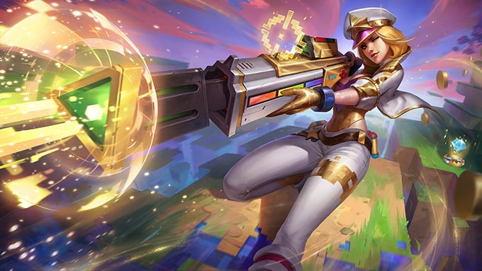 Arcade Caitlyn Prestige Wallpaper LOL