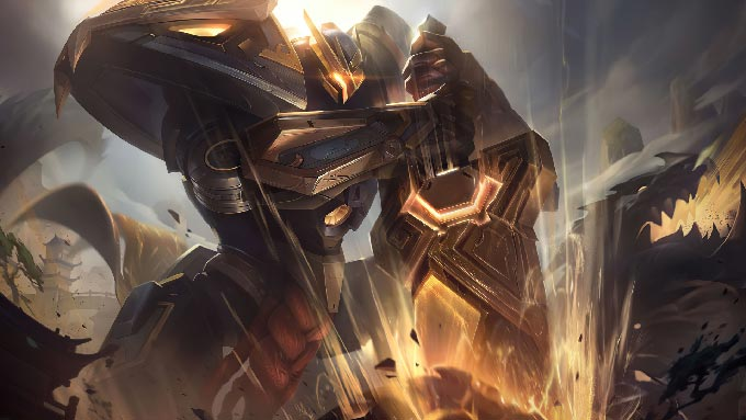 Mecha Kingdoms Garen Prestige Wallpaper LOL