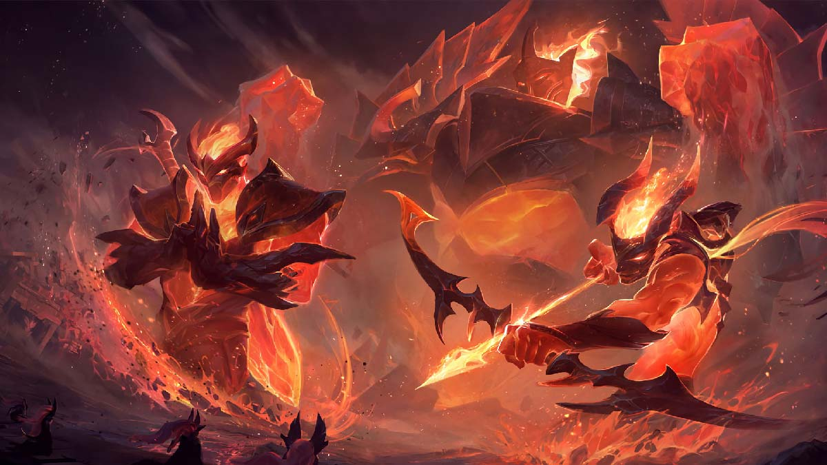 Shen Varus Galio Infernal Wallpaper LOL