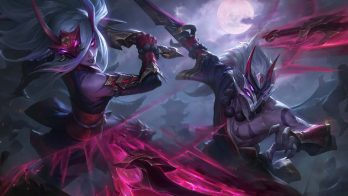 Blood Moon Master Yi Katarina Wallpaper LOL