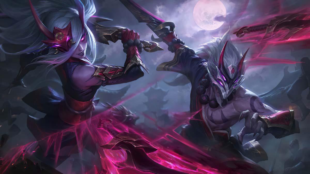 Blood Moon Master Yi Katarina Wallpaper LOL