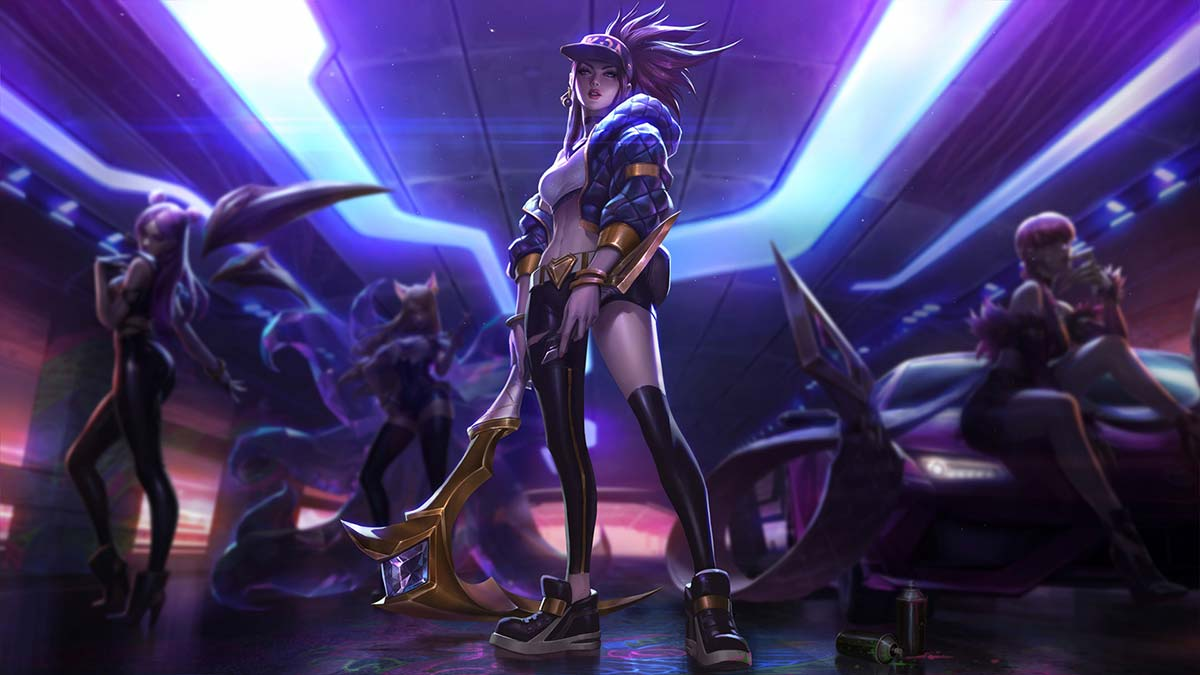 K/DA Akali Wallpaper LOL