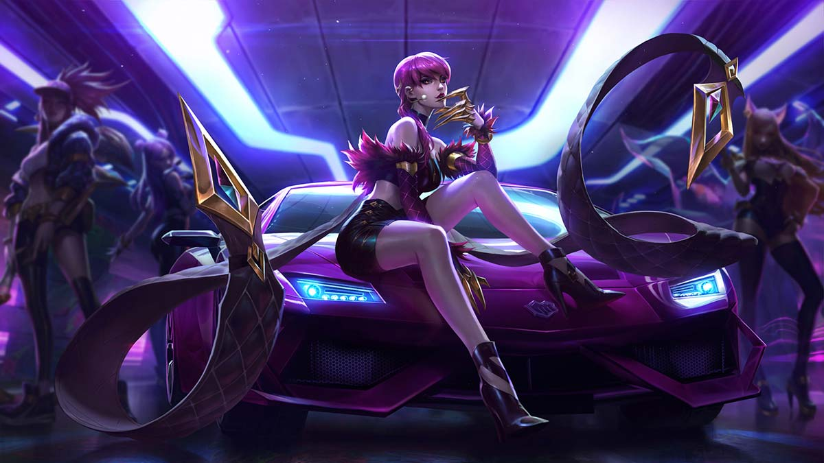 K/DA Evelynn Wallpaper LOL