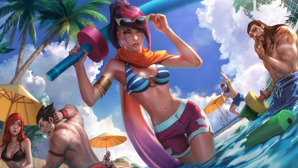 Pool Party Fiora Wallpaper LOL