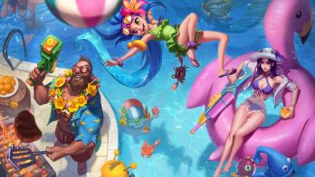 Pool Party Gangplank Zoe Caitlyn Wallpaper LOL