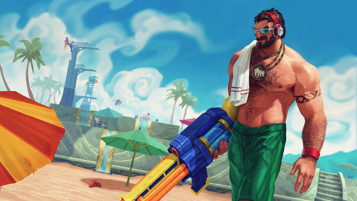 Pool Party Graves Wallpaper LOL