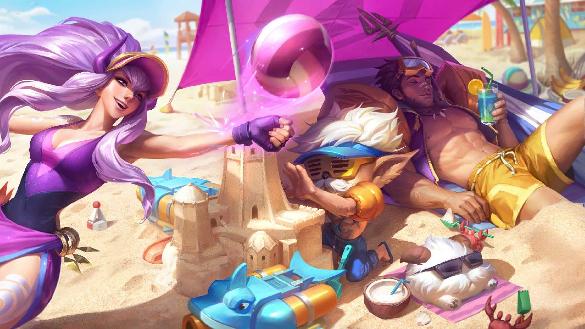 Pool Party Jarvan IV Syndra Heimerdinger Wallpaper LOL