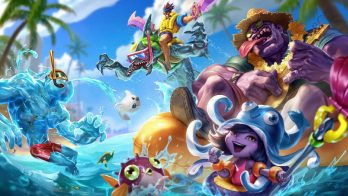 Pool Party Dr. Mundo Lulu RekSai Draven Zac Wallpaper LOL