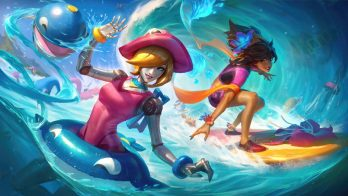 Pool Party Orianna Taliyah Wallpaper LOL