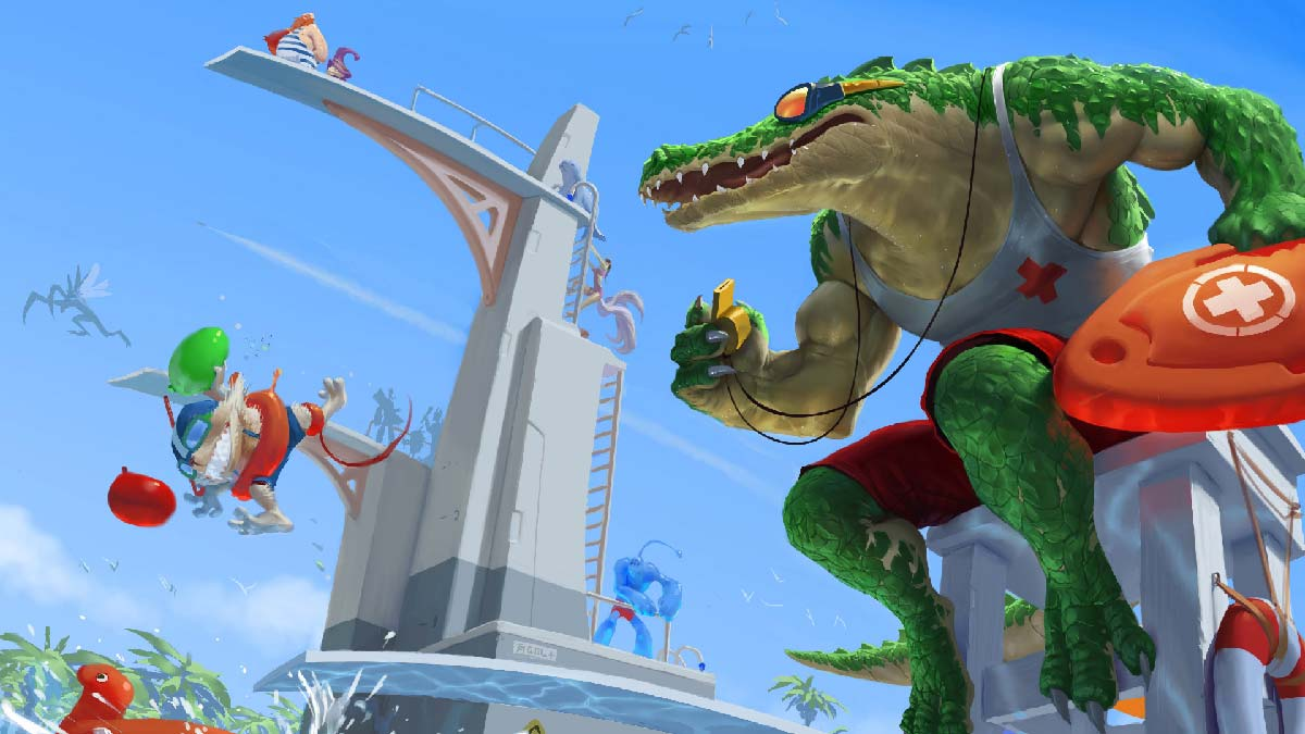 Pool Party Renekton Wallpaper LOL