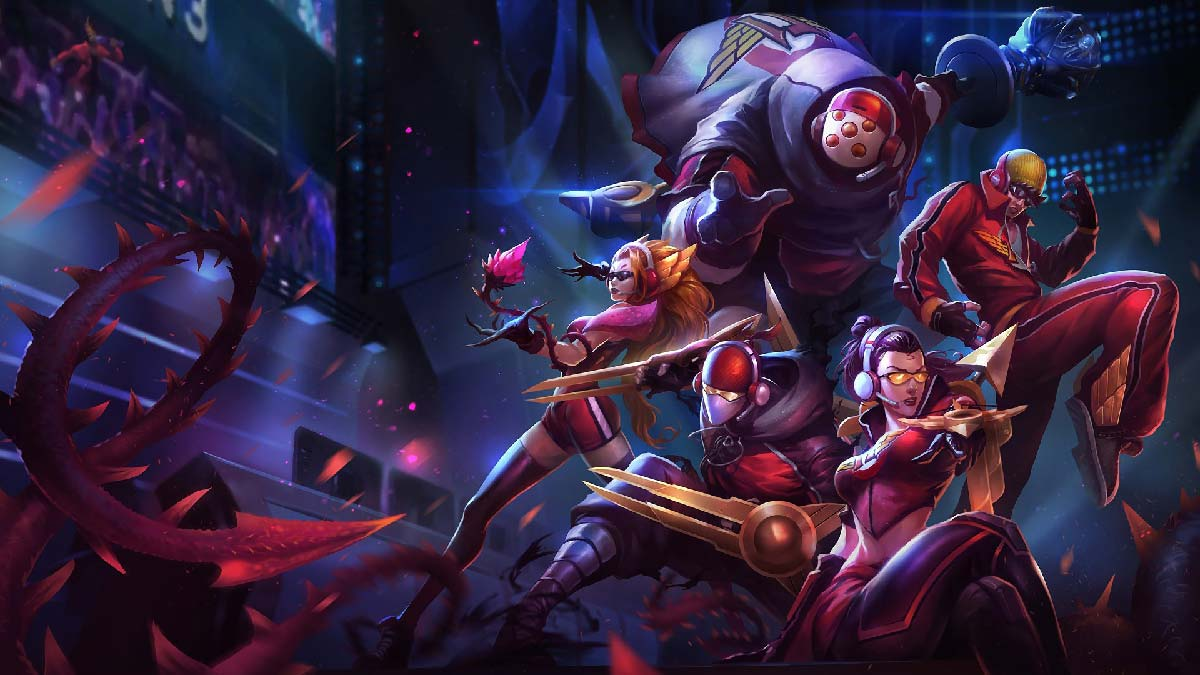 SKT T1 Zed Vayne Zyra Lee Sin Jax Wallpaper LOL