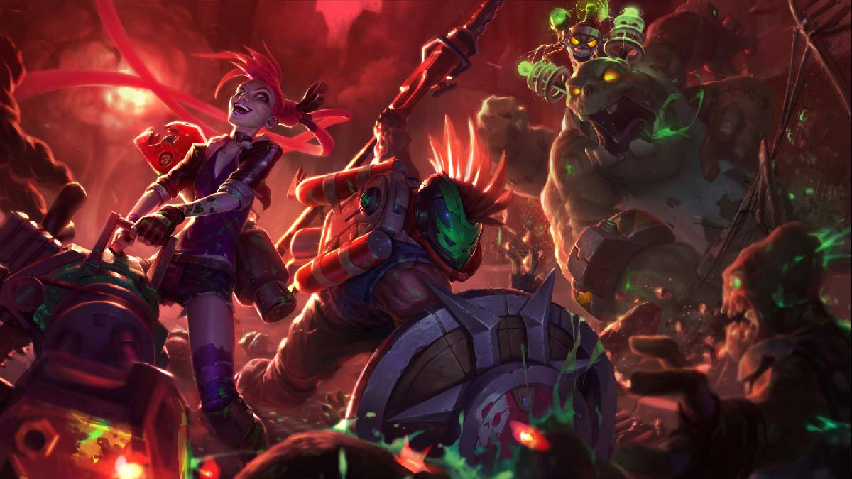 Zombie Nunu Pantheon Jinx Wallpaper LOL