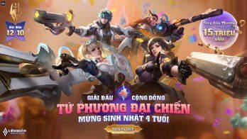 Giải đấu Tứ Phương Đại Chiến dành cho game thủ ở 32 tỉnh thành
