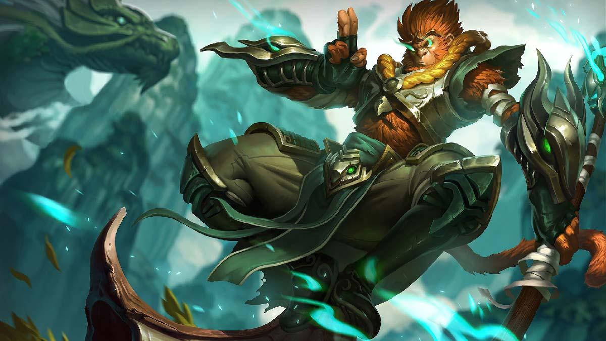 Jade Dragon Wukong Wallpaper LOL