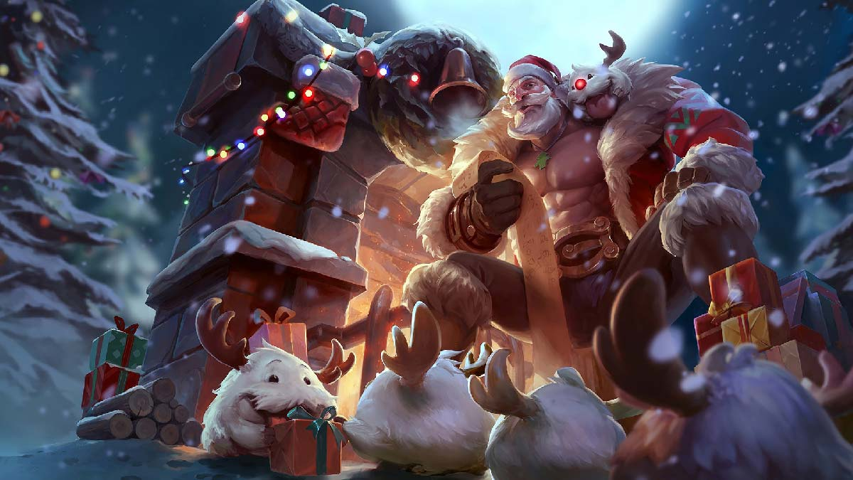 Santa Braum Wallpaper LOL