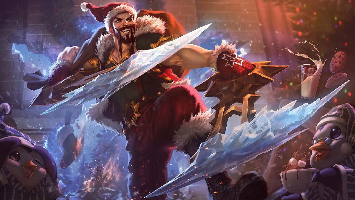 Santa Draven Wallpaper LOL