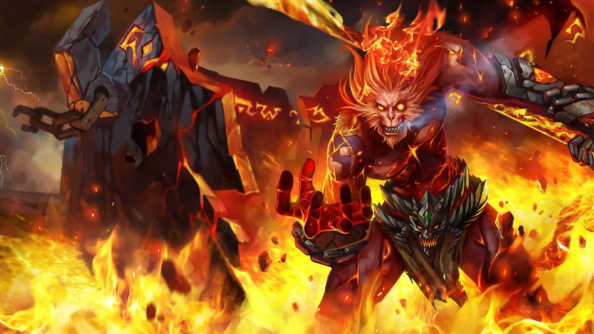 Volcanic Wukong Wallpaper LOL